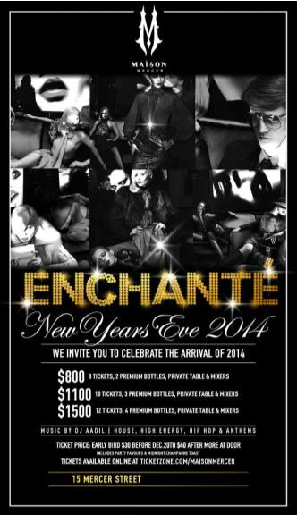 ENCHANTÉ NYE 14 at MAISON