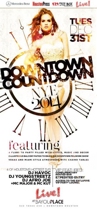 DOWNTOWN COUNTDOWN: NYE 2014