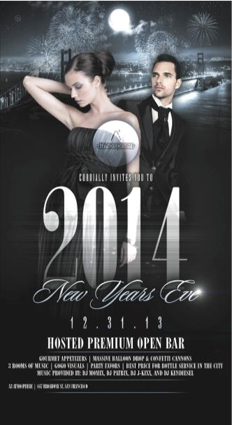 NYE 2014 Premium Open Bar