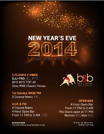 New Years Eve 2014 - Supperclub edition