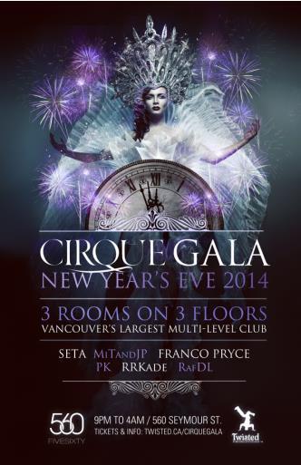 CIRQUE GALA - NYE 2014