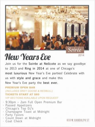 Soiree at Nellcote NYE 2014