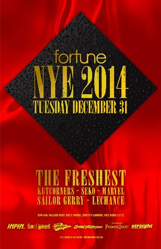 FORTUNE SOUND CLUB NYE 2014