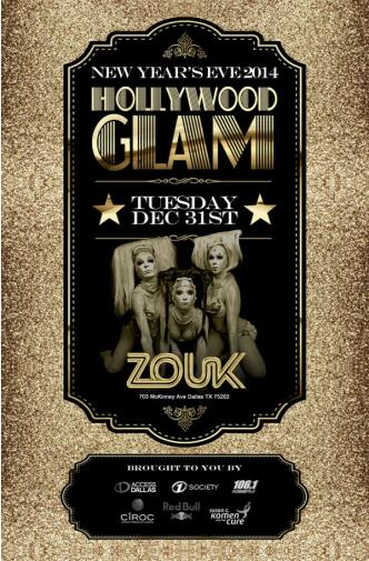 ZOUK NYE2014 | HOLLYWOOD GLAM