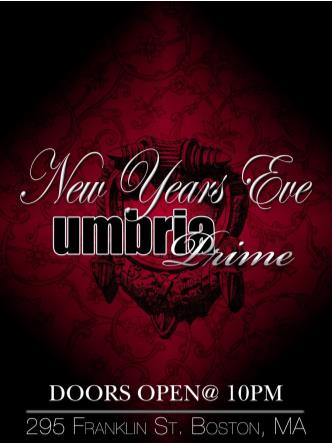 New Years 2014 at UMBRIA PRIME