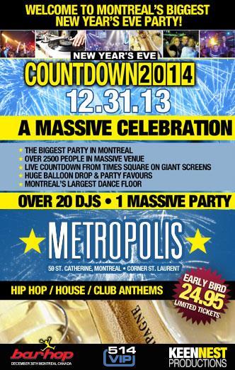 COUNTDOWN NYE 2014 @METROPOLIS
