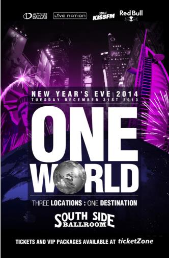 ONE WORLD NYE 2014