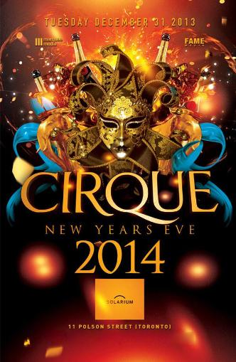 CIRQUE NEW YEAR'S EVE 2014