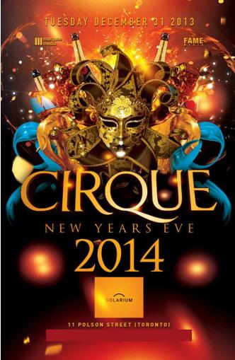 CIRQUE NEW YEARS EVE 2014