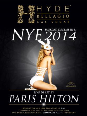 NYE 2014 at Hyde Bellagio