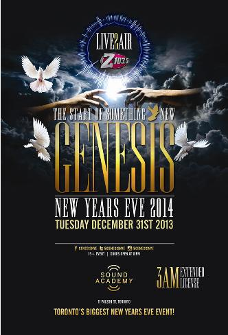 GENESIS NEW YEARS EVE 2014