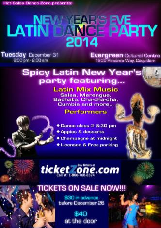 NYE2014 Latin Party Evergreen