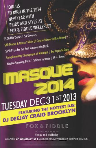 MASQUE 2014 New Years Eve