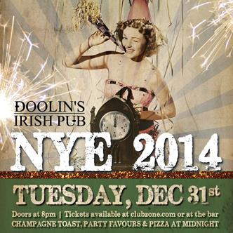 NYE 2014 at Doolins Irish Pub