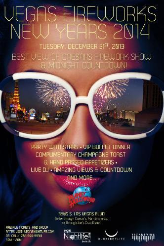 Vegas Fireworks New Years 2014