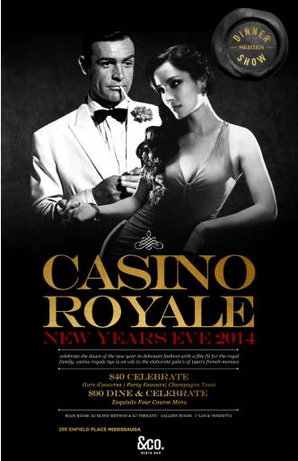 NYE 2014 - CASINO ROYALE