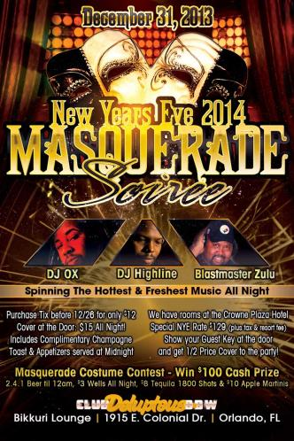 NYE Masquerade Soriee @ Club D