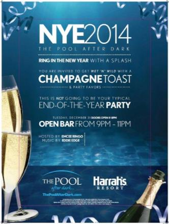 New Years Eve 2 hour open bar