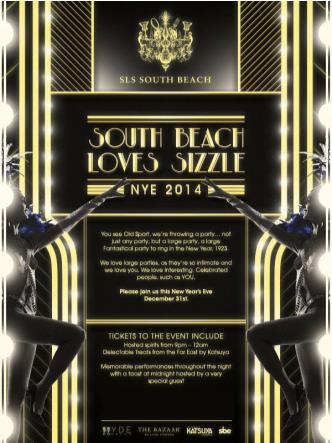 South Beach Loves Sizzle: NYE