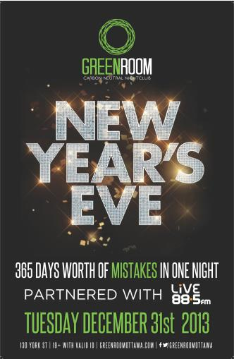Green Room New Years Eve 2014