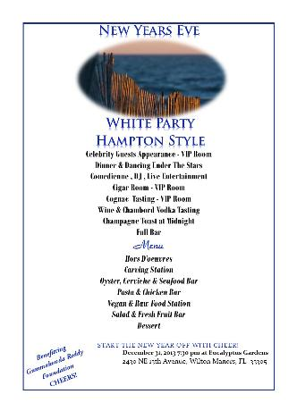 NYE White Party Hampton Style