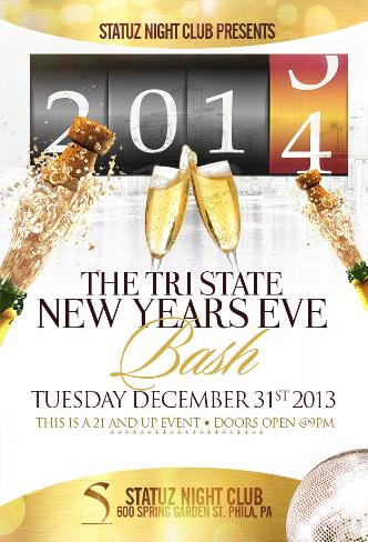 2014 NYE party at Statuz