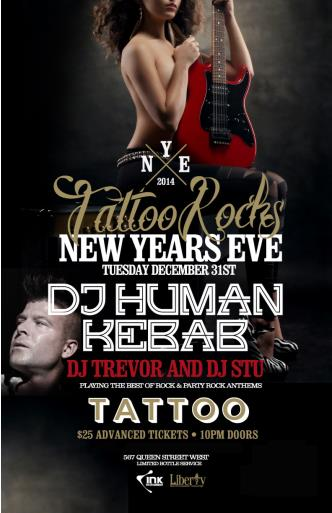 Tattoo Rocks New Years Eve