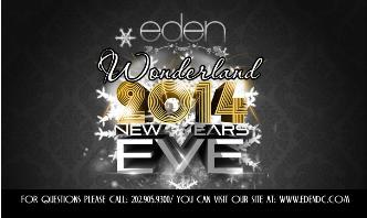 NYE 2014 | EDEN DC WONDERLAND