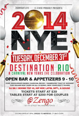 New Years Eve 2014 at Zengo