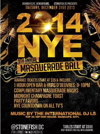 New Year Eve Masquerade Ball
