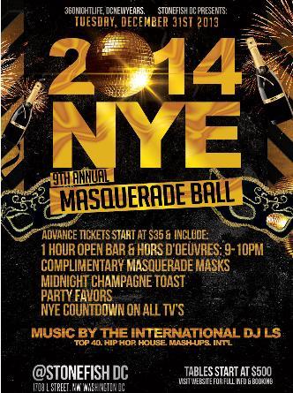 New Year Eve Masquerade Ball