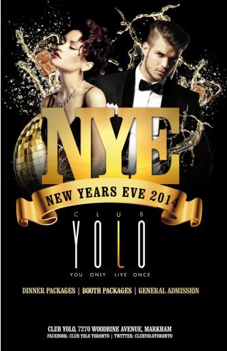 CLUB YOLO NYE 2014 Party