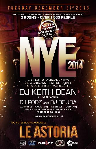 NYE 2014 @ LE ASTORIA