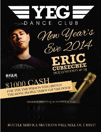 NEW YEARS EVE YEG DANCE CLUB