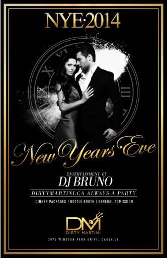 Dirty Martini Oakville NYE2014
