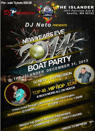 New Years Eve 2014 Boat Party