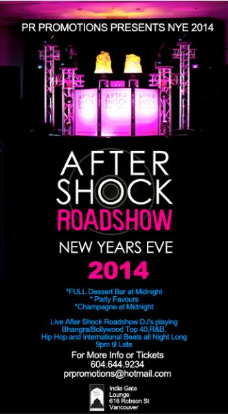 AFTERSHOCK ROADSHOW NYE 2014