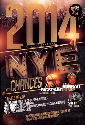 CHANCES 2014 HIP-HOP NEW YEARS