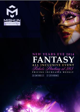 NYE  FANTASY - ALL INCLUSIVE