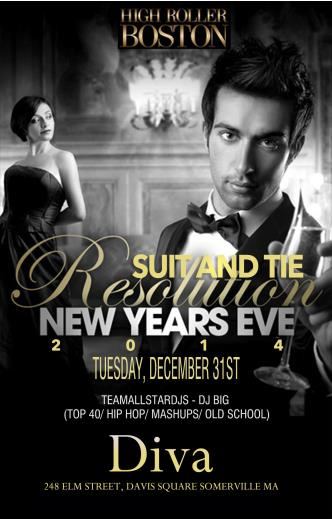 Suit & Tie Resolution NYE $20