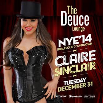 Claire Sinclair Hosts NYE 2014