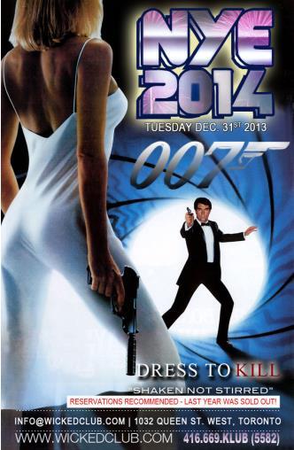 NYE 2014! James Bond