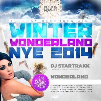 NYE 2014 @ WonderLand Ballroom