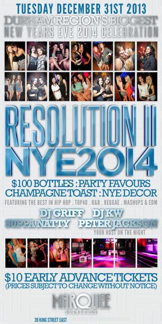 RESOLUTION NYE 2014