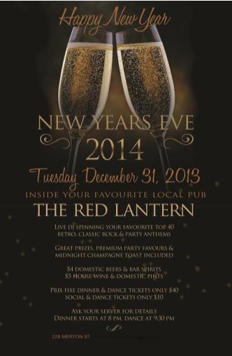 RED LANTERN NYE 2014