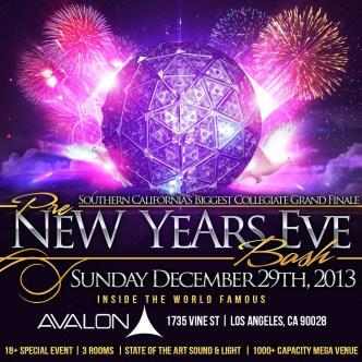 Avalon -Pre New Years Eve 18+