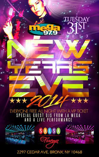 Salsa  Con Fuego New Years2014
