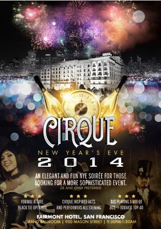 Cirque NYE 2014 @ the Fairmont
