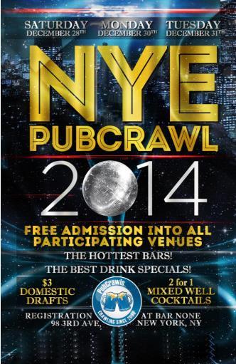 Dec 28 NYC PubCrawl NYE
