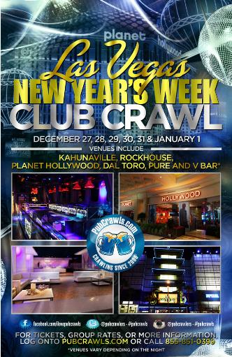 Vegas New Year's Club Crawl